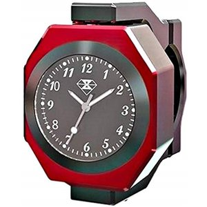 角度調整可能 バイク オートバイ 自転車 ハンドル 用 夜光 防水 アナログ時計 温度計 RED 赤(RED 赤) zebrand-shop