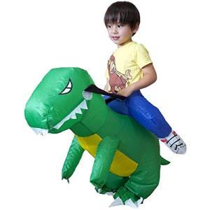 コスチューム ハロウィン 怪獣 恐竜 インフレータブル 仮装 衣装 子供 大人 レディース メンズ(X-スモール / 幼児(90-110)) zebrand-shop