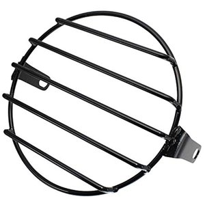 バイク ヘッドライト グリル 網 カバー ガード メッシュ 汎用 6.5インチ 160mm nkr1075(横5本)|zebrand-shop