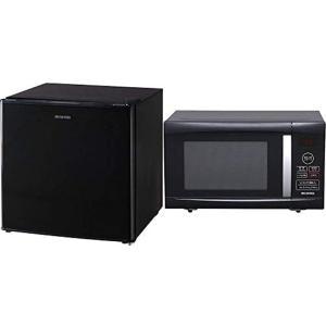 セット販売 ノンフロン冷蔵庫 1ドア 42L ブラック NRSD-4A-B & 電子レンジ(ブラック, 3)42L(右開き/ブラック))|zebrand-shop