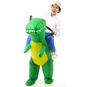 「恐竜 コスチューム」ハロウィン 怪獣 インフレータブル 仮装 衣装 子供 大人 レディース メンズ 男女兼用 /(LARGE / 大人) zebrand-shop