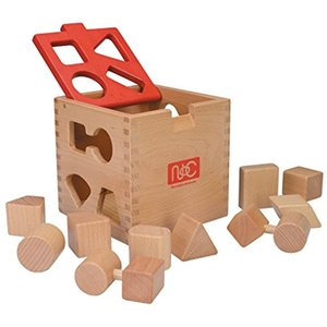 10種類のブロックを同じ形の穴に入れるパズルBOXです。  --------------------...