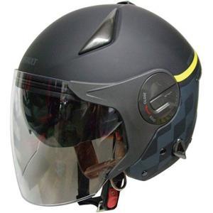 「石野商会」 ルノー Wシールドジェットヘルメット[RN-999W](マットブラック/マットグレー, フリー) zebrand-shop