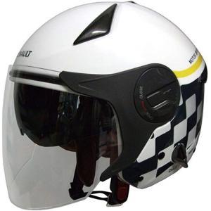 「石野商会」 ルノー Wシールドジェットヘルメット[RN-999W](ホワイト/グレー, フリー) zebrand-shop