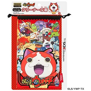 妖怪ウォッチ NINTENDO 3DSLL対応 クリーナー巾着 レッド(Nintendo 3DS)|zebrand-shop