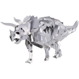 (商品詳細)  主要部品がすべて金属製のトリケラトプスが作れるキット。 体長約20cm。  あしやあ...