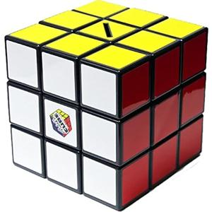一面完成しないと開けれない。ルービックキューブ貯金箱。2010年ルービックキューブは発売30周年。大...
