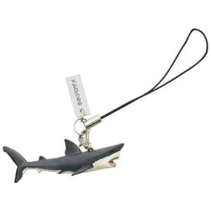 72501 リアルフィギュア ストラップ ホホジロザメ[FM-501](ホワイト)|zebrand-shop