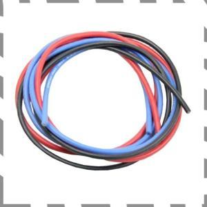 シリコン銀コードセット・16Gゲージ 赤、黒、青 各60cm 967(16G[ゲージ]) zebrand-shop