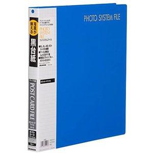 HAKUBA アルバム ポケット SF-6 プリントファイル ポストカード サイズ 80枚 ハガキ 519167(ブルー, ハガキ)|zebrand-shop