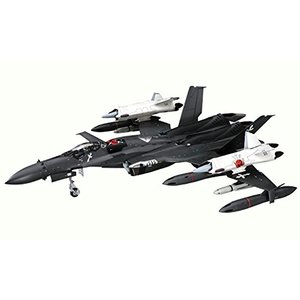 """1/72 マクロスゼロ SV-51γ w/ツインブースター """"マクロスゼロ 65776(黒、白)"""