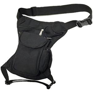 腿にベストフィット。 ウェストポーチ 腿用 バッグ 多機能 451 ブラック 黒(ブラック 黒)|zebrand-shop