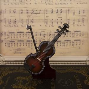 ミニチュア楽器 バイオリン/DeepRed|zebrand-shop