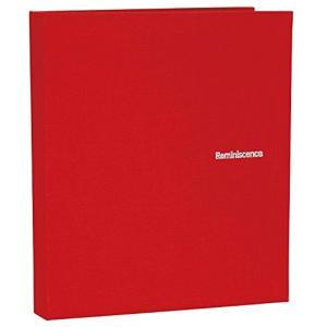SEKISEI アルバム ポケット ハーパーハウス レミニッセンス ミニポケットアルバム 40枚収容 布 XP-40P(レッド, ハガキ)|zebrand-shop