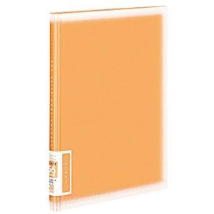 アルバム ポシェットアルバム コロレー A5ワイド ポケット台紙 E/L/ハイビジョン/ポストカード ア-NPV10YR(オレンジ)|zebrand-shop