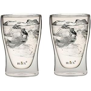 Hurex 耐熱ダブルウォールグラス 220ml 2個セット[HU-M6157*2]