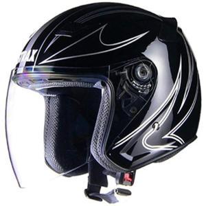 リード工業 バイクヘルメット ジェット STRAX L 頭囲[SJ-9](ブラック, L (頭囲 59cm〜60cm未満)) zebrand-shop