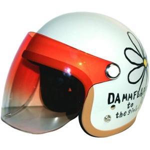 バイクヘルメット ジェット フラワー P WH レディースサイズ 57CM〜58CM[FLOWERJET](ホワイト, LADYS-フリー) zebrand-shop