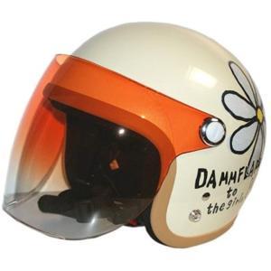 バイクヘルメット ジェット フラワー P IV レディースサイズ 57CM〜58CM[FLOWERJET](アイボリー, LADYS-フリー) zebrand-shop