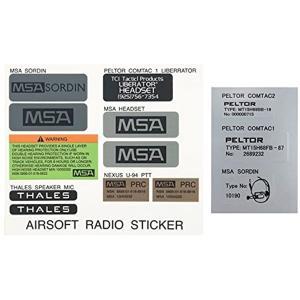ヘッドセット/ラジオ リアル化ステッカーセット MSA SORDIN COMTAC I/II U-94 PTT[AH18]|zebrand-shop