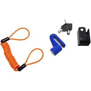 3点セット。 汎用 ディスクロック コイルワイヤー ロックホルダー 300 青(ブルー 青) zebrand-shop