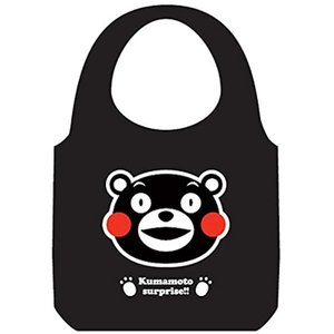 くまモンのエコバッグ 大 笑顔(ブラック) zebrand-shop