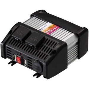 メルテック インバーター 3way USB&コンセント&アクセサリーソケット DC24V 120W[...