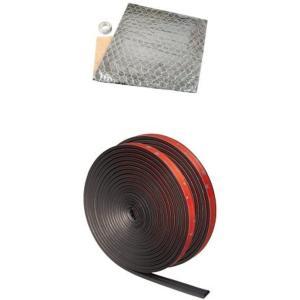 おすすめセット 静音計画 エンジンルーム静音シート 約720×1200mm + 風切り音防止テープ ...