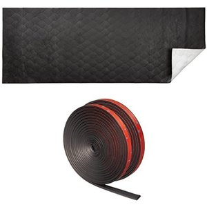 「おすすめセット」エーモン 静音計画 ロードノイズ低減マット L 約480×1300mm 1枚 + 風切り音防止テープ ドア2枚分 約4.3m|zebrand-shop