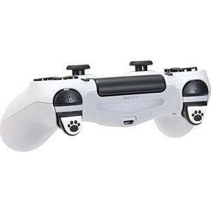 PS4用コントローラーのL2/R2ボタンカバー 貼り付けるだけ。 簡単装着 肉球部分がすべり止め効果...