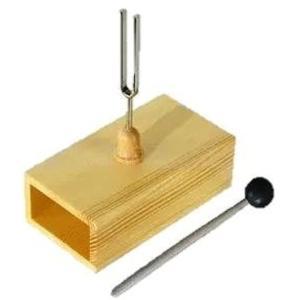 A=440Hz 音叉 標準 共鳴箱 スティック セット 荘厳 静寂 清らか 音色|zebrand-shop