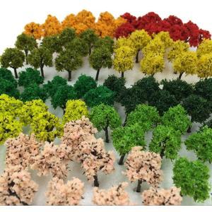 森林 選べる 色 数量 50本 100本 「DauStage」 Nゲージ ジオラマ 鉄道 建築[43479-26679](21,ミックス 90本)|zebrand-shop