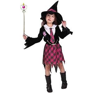 ハロウィン 衣装 魔法学園 かわいい 魔女っ子 女の子(Lサイズ (身長120〜130cm), Lサイズ (身長120〜130cm)) zebrand-shop