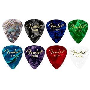 「8色アソート」 16枚 各色2枚ティアドロップ THIN ギター ピック…|zebrand-shop
