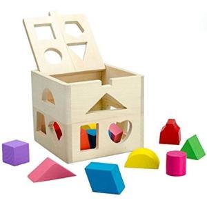 「HappyHome」 木のおもちゃ 型はめ 立体パズル 積み木 ブロック