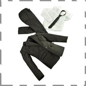 ノーブランド品 1/6スケール スーツ 衣装 フォーマル 男性 人形 フィギュア用  黒 / WH0...