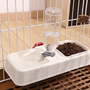 ペット用品 自動給水器 犬 猫 給餌 水やり 水飲み 食器 ケージ固定 留守番用(ベージュ, M)|zebrand-shop