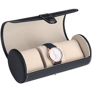 「H&Co.select」腕時計ケース コレクションボックス 3本用 収納ボックス 携帯用 クロス付き ブラック[HS-0010-01]|zebrand-shop