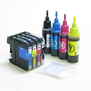 ブラザー用(LC111対応)詰め替えインク(4色)(互換カートリッジ)