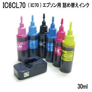 (ZCE706-RST)エプソン用(IC70シリーズ対応)詰め替えインク(30mlx6色) ICチップリセッター付