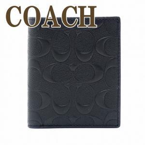d2af1e2d55fb コーチ 財布 メンズ 二つ折り財布 COACH レザー ブラック 11970BLK
