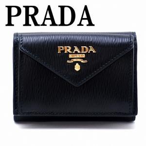 プラダ PRADA 財布 三つ折り財布 レディース VITELLO MOVE NERO 黒 ブラック 1MH021-2B6P-F0002|zeitakuya