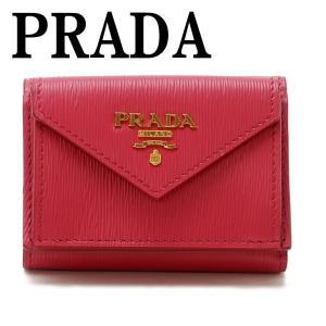 プラダ PRADA 財布 三つ折り財布 レディース VITELLO MOVE PEONIA ピンク 1MH021-2B6P-F0505|zeitakuya