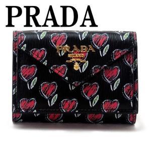 プラダ PRADA 財布 三つ折り財布 レディース VITELLO MOVE LOVE 1MH021-2CI3-F0002|zeitakuya