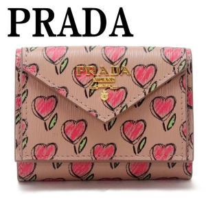 プラダ PRADA 財布 三つ折り財布 レディース VITELLO MOVE LOVE 1MH021-2CI3-F0236|zeitakuya