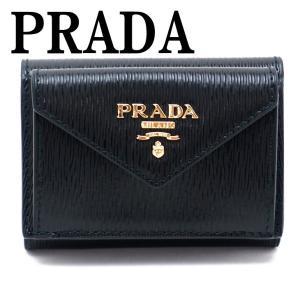 プラダ PRADA 財布 三つ折り財布 レディース VITELLO MOVE NERO 黒 ブラック 1MH021-2EZZ-F0002|zeitakuya