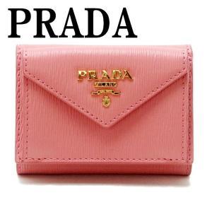 プラダ PRADA 財布 三つ折り財布 レディース VITELLO MOVE PETALO ピンク 1MH021-2EZZ-F0442|zeitakuya