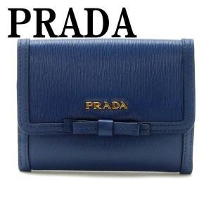 プラダ PRADA 財布 二つ折り財布 レディース VITELLO MOVE BLUETTE 1MH523-2B32-F0016|zeitakuya