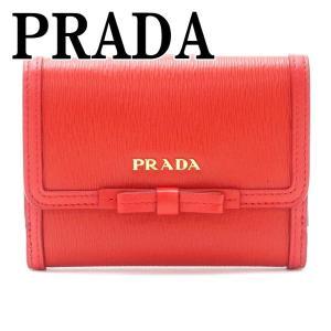プラダ PRADA 財布 二つ折り財布 レディース VITELLO MOVE LACCA 1MH523-2B32-F0D17|zeitakuya