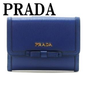 プラダ PRADA 財布 二つ折り財布 レディース VITELLO MOVE BLUETTE 1MH523-2B6S-F0016|zeitakuya
